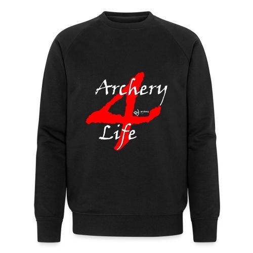 Archery4Life white - Männer Bio-Sweatshirt von Stanley & Stella