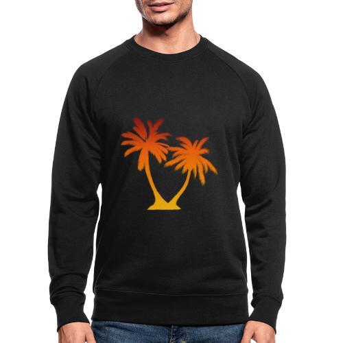 Palm Boom Zonsondergang - Mannen bio sweatshirt