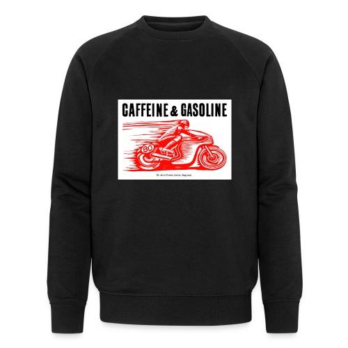 Caffeine & Gasoline black text - Men's Organic Sweatshirt