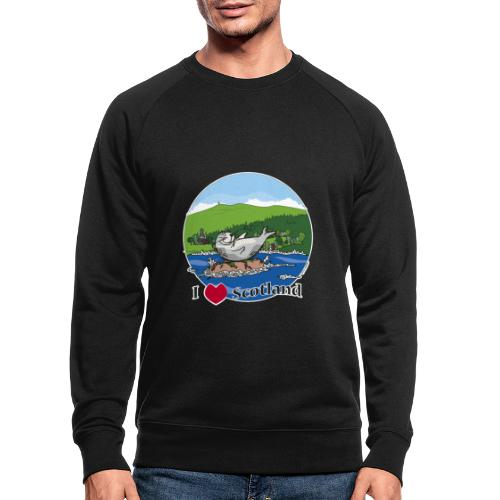 I heart Scotland - Sutherland & Caithness - Men's Organic Sweatshirt