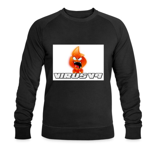 Virusv9 Weiss - Männer Bio-Sweatshirt von Stanley & Stella