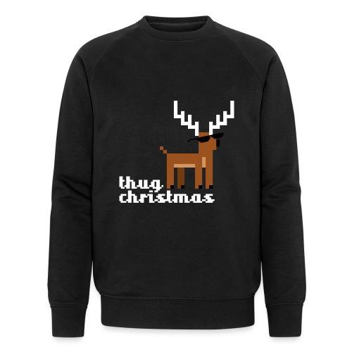 Christmas Xmas Deer Pixel Funny - Men's Organic Sweatshirt by Stanley & Stella