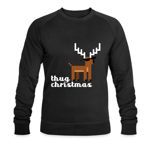 Christmas Xmas Deer Pixel Funny - Men's Organic Sweatshirt