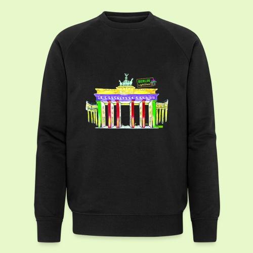 Berlin/Brandenburger Tor/PopArt/BerlinLightShow - Männer Bio-Sweatshirt von Stanley & Stella