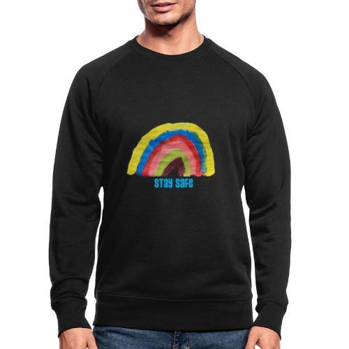 Stay Safe Rainbow Tshirt - Men's Organic Sweatshirt