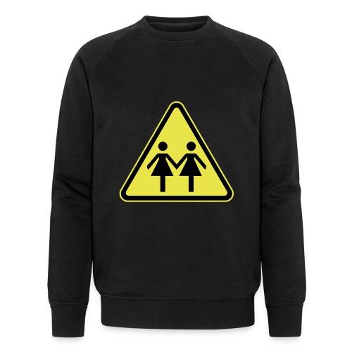 ACHTUNG LESBEN POWER! Motiv für lesbische Frauen - Männer Bio-Sweatshirt von Stanley & Stella