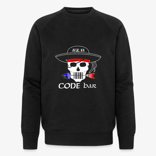 Code Bar white - Sweat-shirt bio