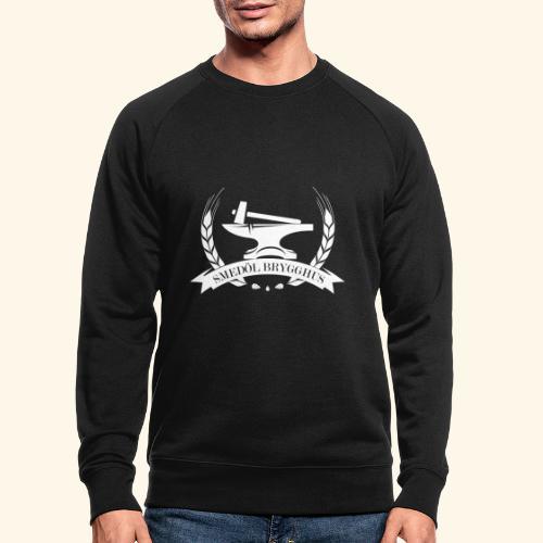 Smedöl Brygghus Logga Vit - Ekologisk sweatshirt herr