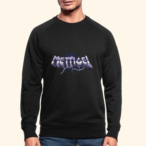 Mettigel T Shirt Design Heavy Metal Schriftzug - Männer Bio-Sweatshirt