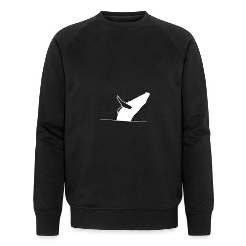 Jumping whale - white - Männer Bio-Sweatshirt