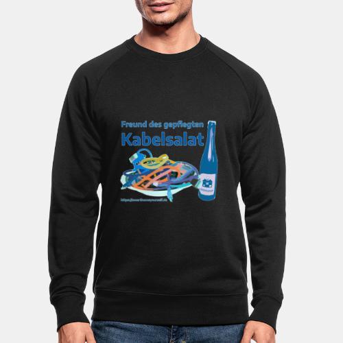 Freund des gepflegten Kabelsalat - Comic - Männer Bio-Sweatshirt