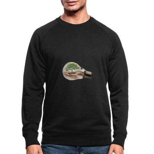 Baum und fliege in einer Glühbirne Geschenkidee - Männer Bio-Sweatshirt