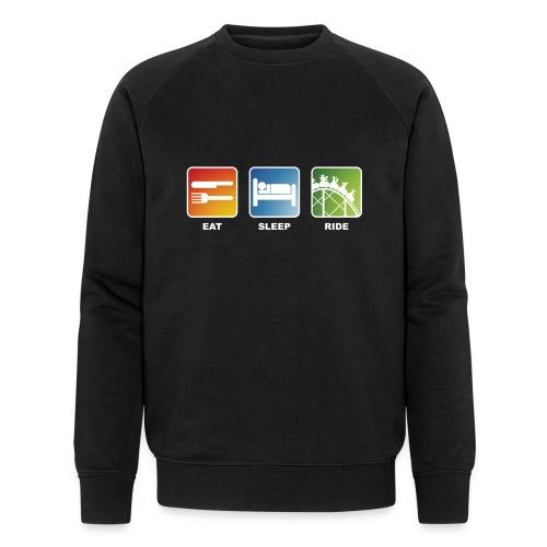 Eat, Sleep, Ride! - T-Shirt Schwarz - Männer Bio-Sweatshirt von Stanley & Stella