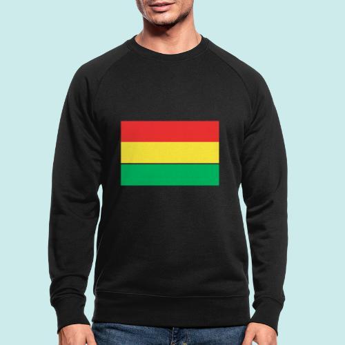 ROOD GEEL GROEN CARNAVAL - Mannen bio sweatshirt