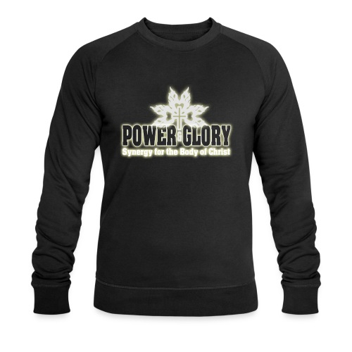 Power and Glory Logo glow - Men's Organic Sweatshirt by Stanley & Stella