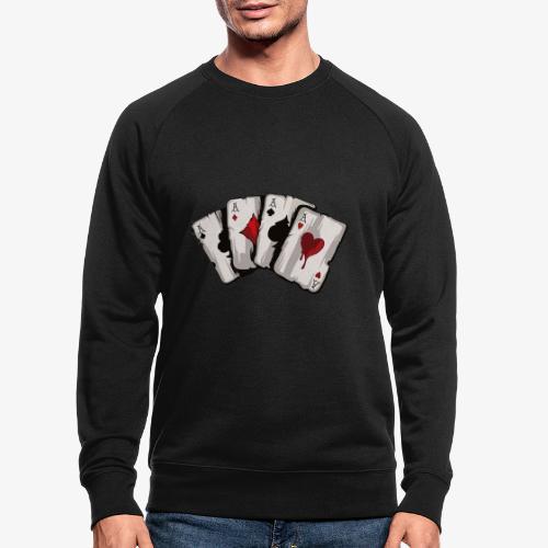 4 Asse und die NUTS - Männer Bio-Sweatshirt