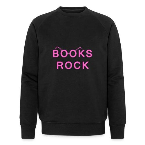 Books Rock Pink - Men's Organic Sweatshirt by Stanley & Stella