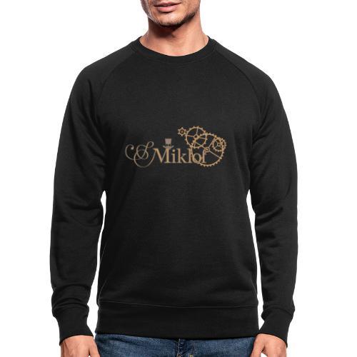 miklof logo gold outlined 3000px - Men's Organic Sweatshirt