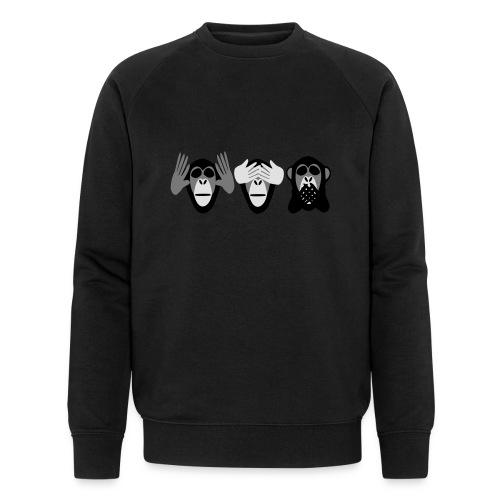 drei affen, nichts hoeren nichts sehen nichts - Männer Bio-Sweatshirt von Stanley & Stella