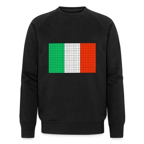 italian flag - Felpa ecologica da uomo