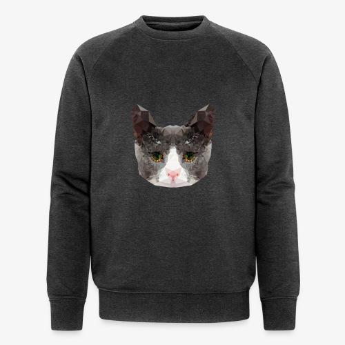 Triangle Cat - Men's Organic Sweatshirt by Stanley & Stella