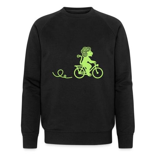 Züri-Leu beim Velofahren ohne Text - Männer Bio-Sweatshirt