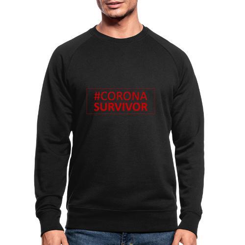 Corona Virus Survivor - Men's Organic Sweatshirt