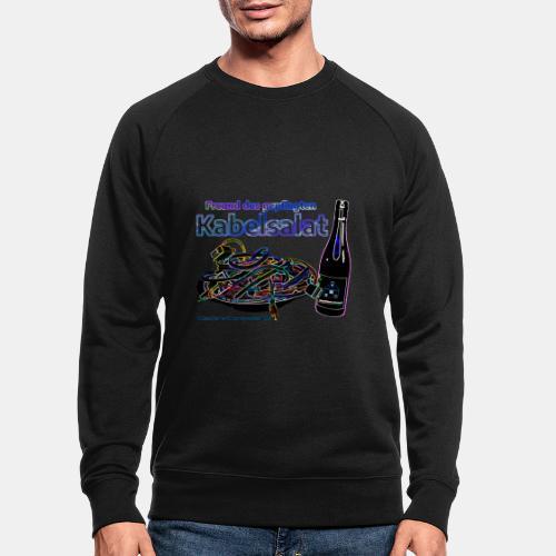 Freund des gepflegten Kabelsalat - Neon - Männer Bio-Sweatshirt
