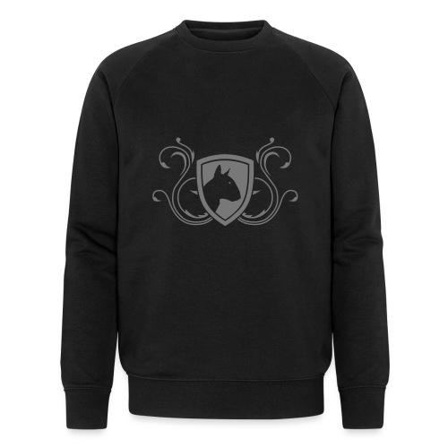 Bullterrier Wappen 1c - Männer Bio-Sweatshirt