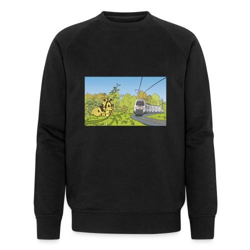 Raupe und Zug - Männer Bio-Sweatshirt
