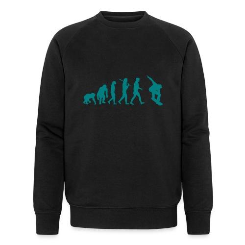 evolution_of_snowboarding - Mannen bio sweatshirt van Stanley & Stella