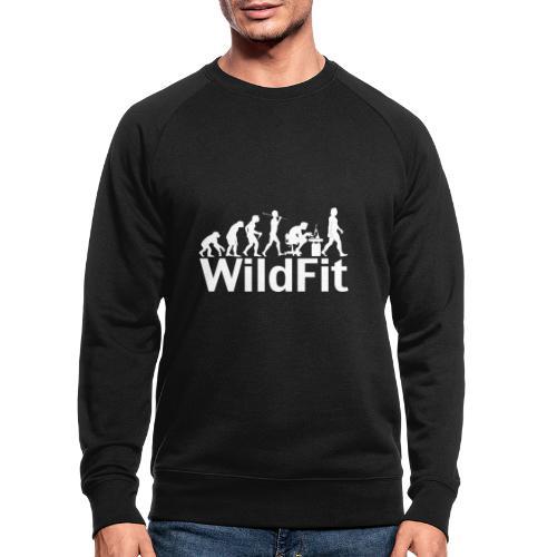 WildFit Logo Evolution Weiß - Männer Bio-Sweatshirt