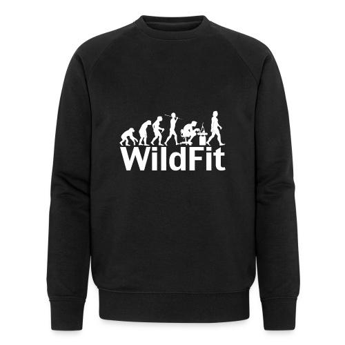 WildFit Logo Evolution Weiß - Männer Bio-Sweatshirt von Stanley & Stella