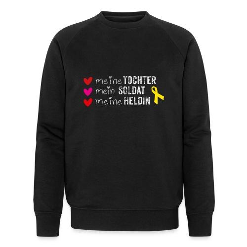 Meine Tochter Soldat Heldin weiss - Männer Bio-Sweatshirt von Stanley & Stella
