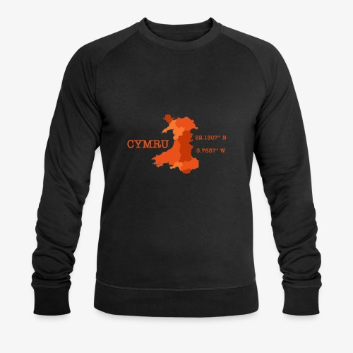 Cymru - Latitude / Longitude - Men's Organic Sweatshirt by Stanley & Stella