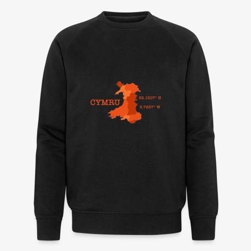 Cymru - Latitude / Longitude - Men's Organic Sweatshirt