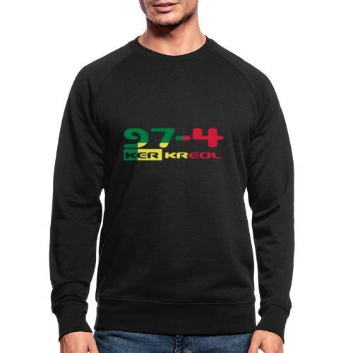 Logo 974 ker kreol VJR, rastafari - Sweat-shirt bio