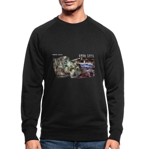 gas mask 2 white - Männer Bio-Sweatshirt