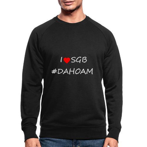 I ❤️ SGB #DAHOAM - Männer Bio-Sweatshirt
