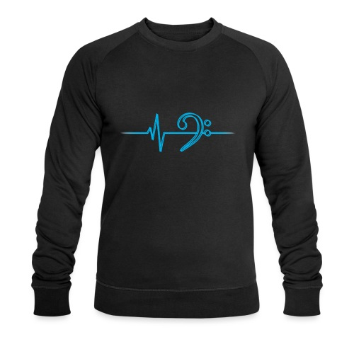 LowHeartBeatDouble cyan - Männer Bio-Sweatshirt von Stanley & Stella
