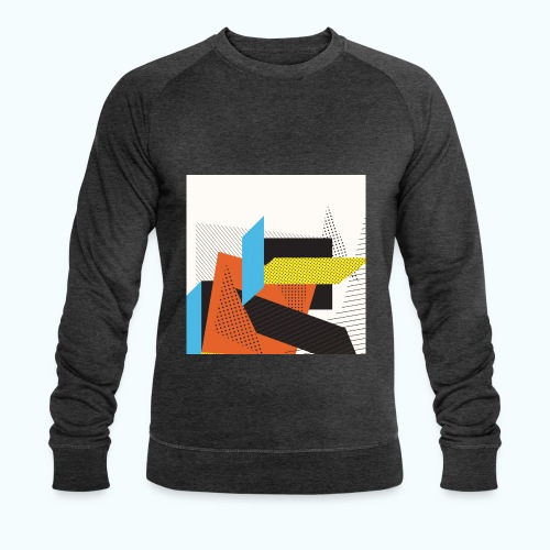 Vintage shapes abstract - Men's Organic Sweatshirt by Stanley & Stella