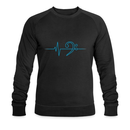LowHeartBeat cyan - Männer Bio-Sweatshirt von Stanley & Stella