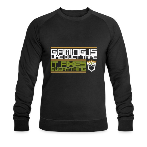 Gaming is like duct tape - Men's Organic Sweatshirt by Stanley & Stella