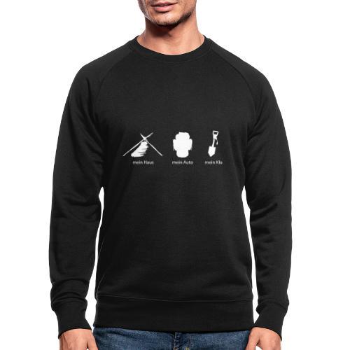 Haus Auto Klo - Männer Bio-Sweatshirt