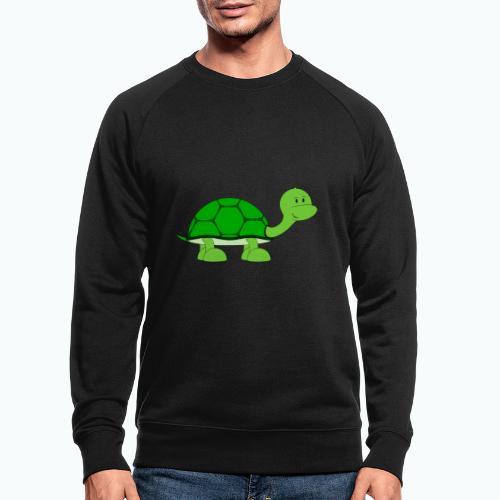 Totte Turtle - Appelsin - Ekologisk sweatshirt herr