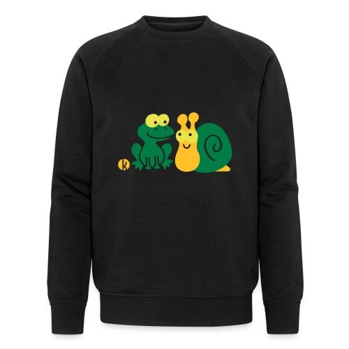 Frosch und Schnecke (c2) Freundschaft - Männer Bio-Sweatshirt von Stanley & Stella
