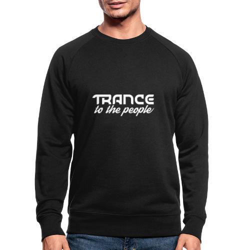 Trance to the People Hvidt Logo - Økologisk sweatshirt til herrer