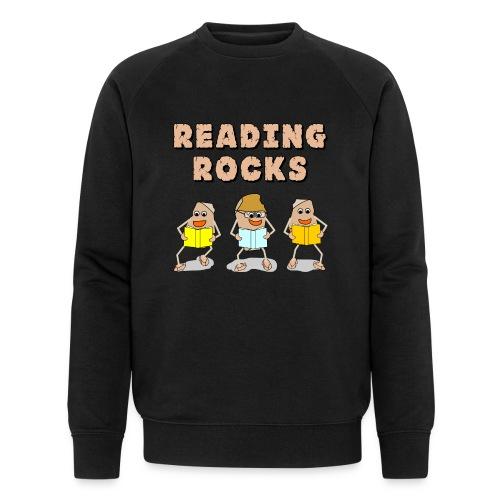 Reading Rocks Funny Book Lovers - Men's Organic Sweatshirt by Stanley & Stella