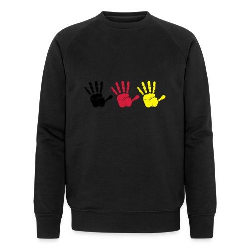 Handabdruck Trio - Männer Bio-Sweatshirt