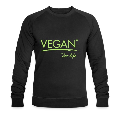 vegan for life 1c - Männer Bio-Sweatshirt
